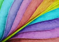 Colourful Leaf Poster Size A4 / A3 Rainbow Gardening Art Poster Gift #13008