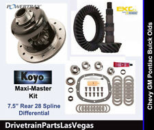 "GM Chevy 7.5"" 10 Bolt Posi Package Gear Set Maxi Master Kit 4.56 Ratio Grip LS"
