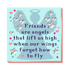Friends Are Angels Fridge Magnet More Than Words Gift