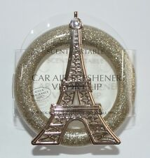 BATH BODY WORKS GOLD EIFFEL TOWER SCENTPORTABLE HOLDER CAR VISOR CLIP FRESHENER