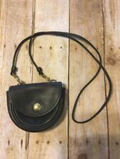Vintage Coach Deep Bottle Green saddle leather belt crossbody bag Purse Women's