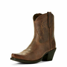 Ariat 10027229 Women's Lovely 4LR Footbed Leather D Toe Sassy Brown Cowgirl Boot