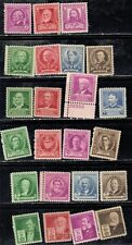 #861.893 1940 Mlh 22 different Famous Americans commemorative stamps