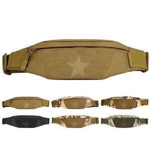 Unisex Nylon Travel Antitheft Slim Running Sling Chest Belt Fanny Pack Waist Bag
