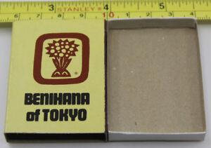 Benihana of Tokyo Honolulu Hawaii Restaurant Matchbook Cover