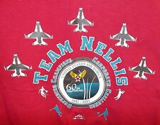 USAF 60th Anniversary 2007 T shirt XXL 2xl TEAM NELLIS AFB Corporate Challenge
