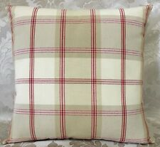 "John Lewis Harrow check Fabric cushion cover 16""x16"" Contemporary Red"
