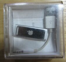 Apple 4 GB iPod Shuffle 3rd Gen. Silver A1271 with case and paper work bundle