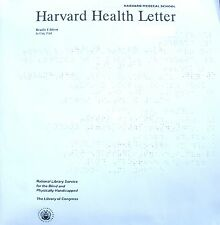 Harvard Health Letter - May 2018 (Braille for the blind)