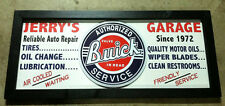 Personalized Vintage Style Filling Station  Gas & Oil Sign w/  Buick round tin