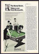 "1968 Brunswick Billiard Pool Table photo ""Home Team"" Ad"