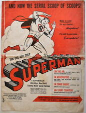 Rare 1948 SUPERMAN SERIAL PRESS BOOK 'The One & Only Superman' Kirk Alyn PROMO