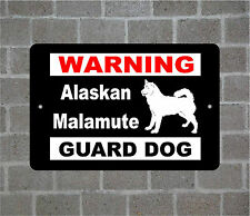 Alaskan Malamute warning GUARD DOG breed metal aluminum sign