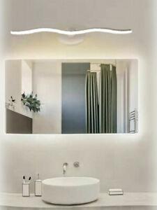 Lampada LED da specchio per bagno 9 watt a onda moderna luce fredda naturale