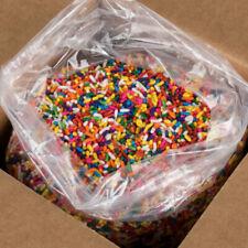 25 lb. Bulk Rainbow Baking Ice Cream Cookie Topping Sprinkles Jimmies