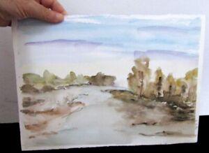 Watercolor painting: Mediterranean autumn afternoon ORIGINAL PAINTING