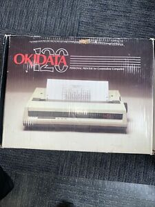 Vintage OKIDATA 120 Personal Printer for Commodore Computers In Box.