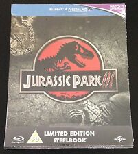 JURASSIC PARK Blu-Ray SteelBook Zavvi UK Exclusive III Three 3 New OOP & Rare!