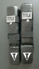 Title Boxing Vinyl Kickboxing Shin Guards Size Large New w/ Tags