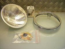HEADLIGHT HEADLAMP RIM+LENS NEW RD 250 DS7 RD 350 NEU SCHEINWERFER RING+EINSATZ