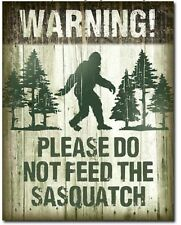 Don't Feed Sasquatch Metal Tin Sign Bigfoot Home Bar Shop Garage Wall Decor New
