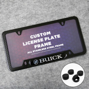 For Buick Sport Front or Rear Carbon Fiber Texture License Plate Frame Cover
