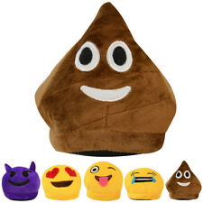 Womens Ladies Mens Emoji Character Funny Crying Poo Laughing Face Plush Size
