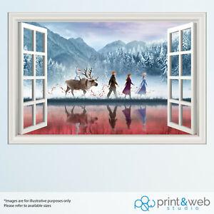 Frozen 2 Window View Decal Wall Sticker Home Decor Art Kids