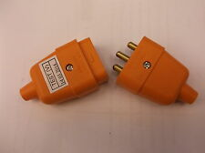 3 Pin 10 Amp 3 core  lawnmower strimmer garden extension lead connector