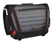 "Kenneth Cole ""The Slam Dunk"" Nylon Laptop Messenger Bag/Briefcase Black-Grey"