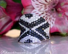 Brillanten Ring mit schwarzen Diamanten im Zig-Zag Design, 2.99 ct. WG-750 7800€