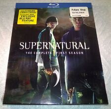 Supernatural - The First Season (Blu-ray Disc, 2010, 4-Disc Set) w Slipcover NEW