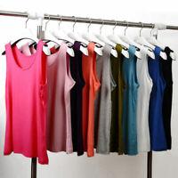 Women Summer Sleeveless Casual Blouse Vest Tank Tops T-Shirt Cami Plus Size