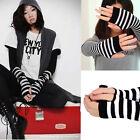 Fashion Warm Winter Wrist Arm Hand Warmer Knitted Long Fingerless Gloves Mitten