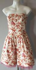 USA Made Betsey Johnson Stretch Cotton Fit & Flare Bustier Dress Crinoline 0 XS