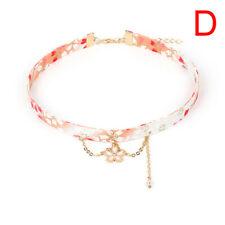 Fashion Japanese Style Cherry Blossom Ribbon Rope Doll Choker Cute Women JewASE