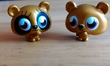 2x Shi Shi moshi monster figures ultra rare gold series 1 Childrens collectables