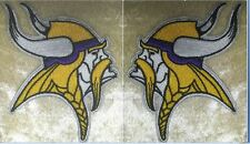 "Minnesota Vikings NFL 3.75"" Iron On Embroided Sleeve Patch SET ~USA Seller"