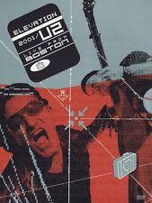 U2 Elevation Tour Live In Boston DVD Bono, The Edge Hamish Brand New and Sealed