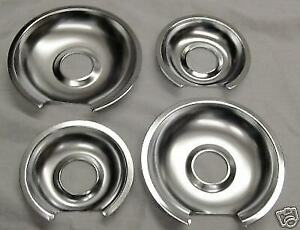 GB3 For GE Range Burner Drip Pans 2 WB32X10012 2 WB32X10013