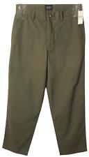 Mens Indigo Palms Flat Front Chino Pants (Size 32 x 30) Green C3420