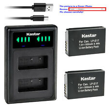Kastar Battery LLD2 USB Charger for LPE17 Canon EOS RP Mirrorless Digital Camera