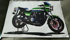 Eddie Lawson #21 Kawasaki S1 -1000 1982 iconic AMA SUPERBIKE ELR Sketch + more