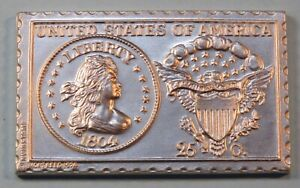 1804 United States Liberty Draped Bust Quarter Dollar Numistamp Medal Coin 1974
