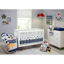 4 Pieces Disney Mickey Mouse Let'S Go Mickey Ii Crib Bedding Set.