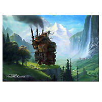 Howl's Moving Castle Poster - Studio Ghibli Anime Art - High Quality Prints