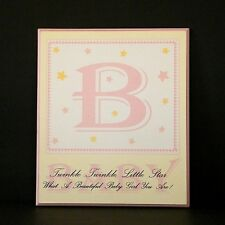 Sheffield Home Baby Plaque B Girl Nursery Decor Wall Sign Enchante Accessories