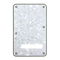 Electric Guitar Backplate Pickguard Cover for Fender Strat White Pearl 3 Ply