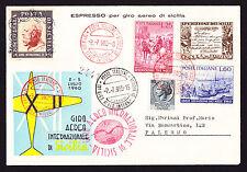 1960 Italy Flight Cover Aereo Internazionale Di Sicilia Aeroclub Palmero Lettre