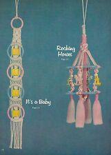 Macrame Baby Room Decor - Craft Book:#GS14 Simply Elegant Kiddie Karnival